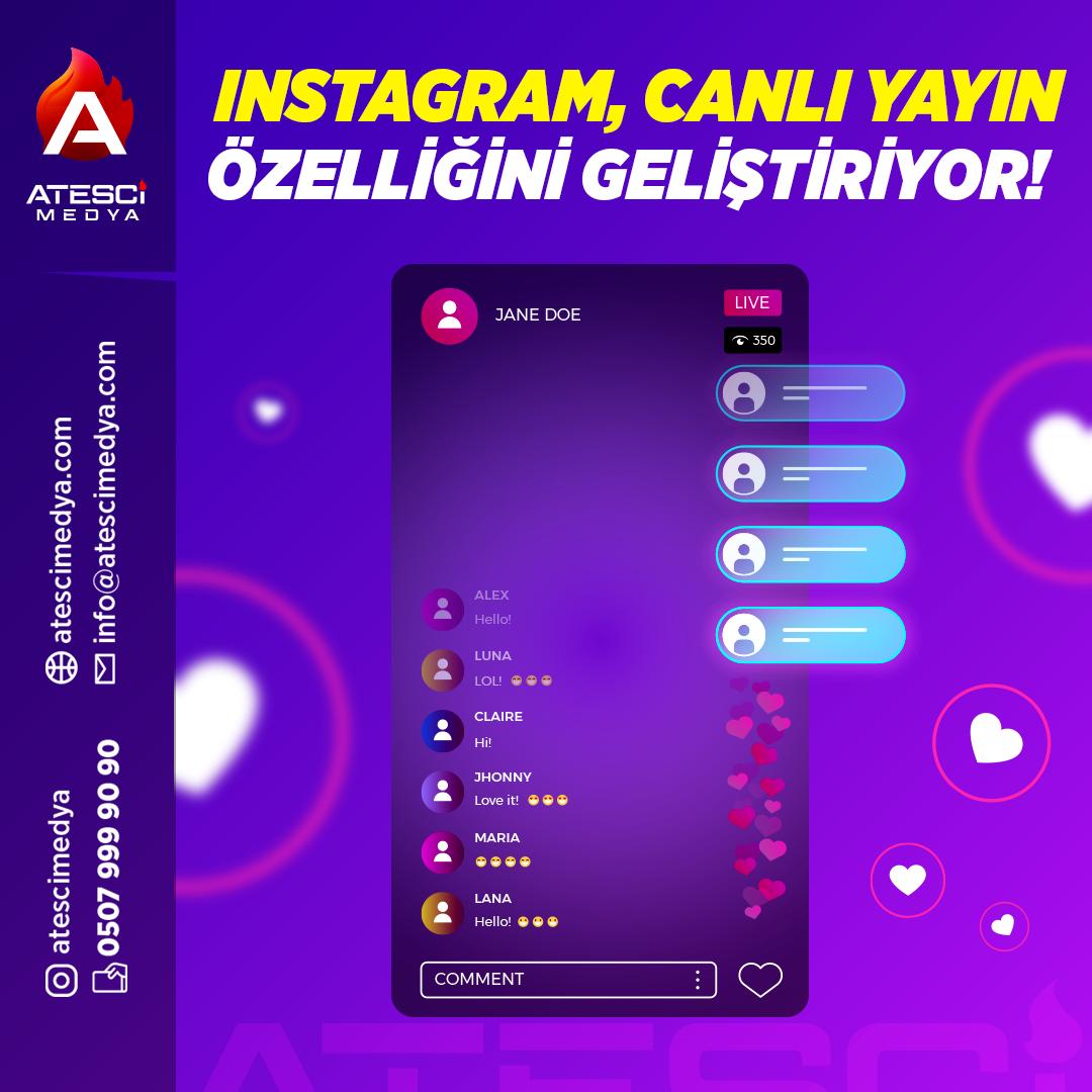 Instagram Canlı Yayın Özelliğini Geliştiriyor
