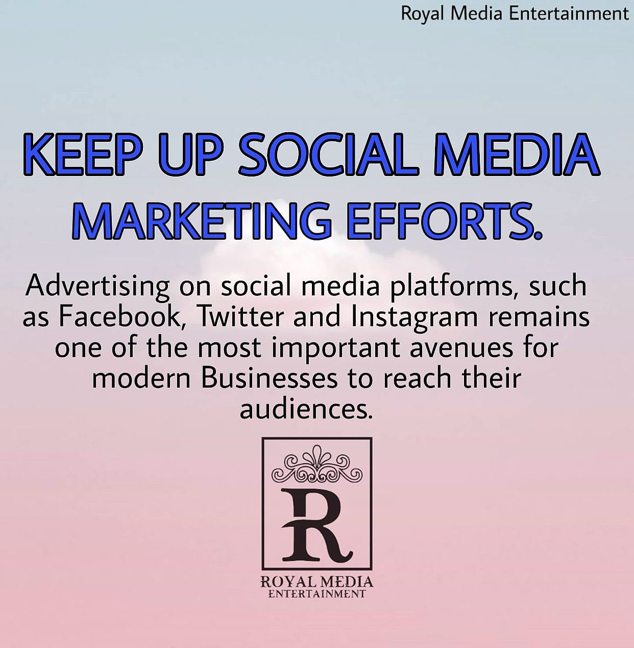 Keep Up Social Media Marketing Efforts