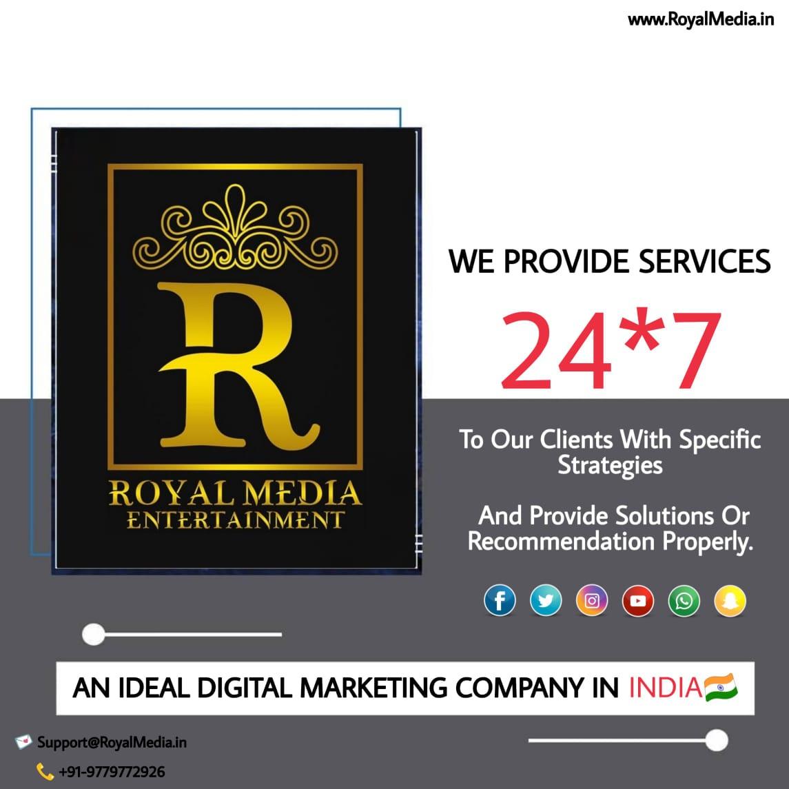 🌟Royal Media Entertainment An Ideal Digital marketing Company.