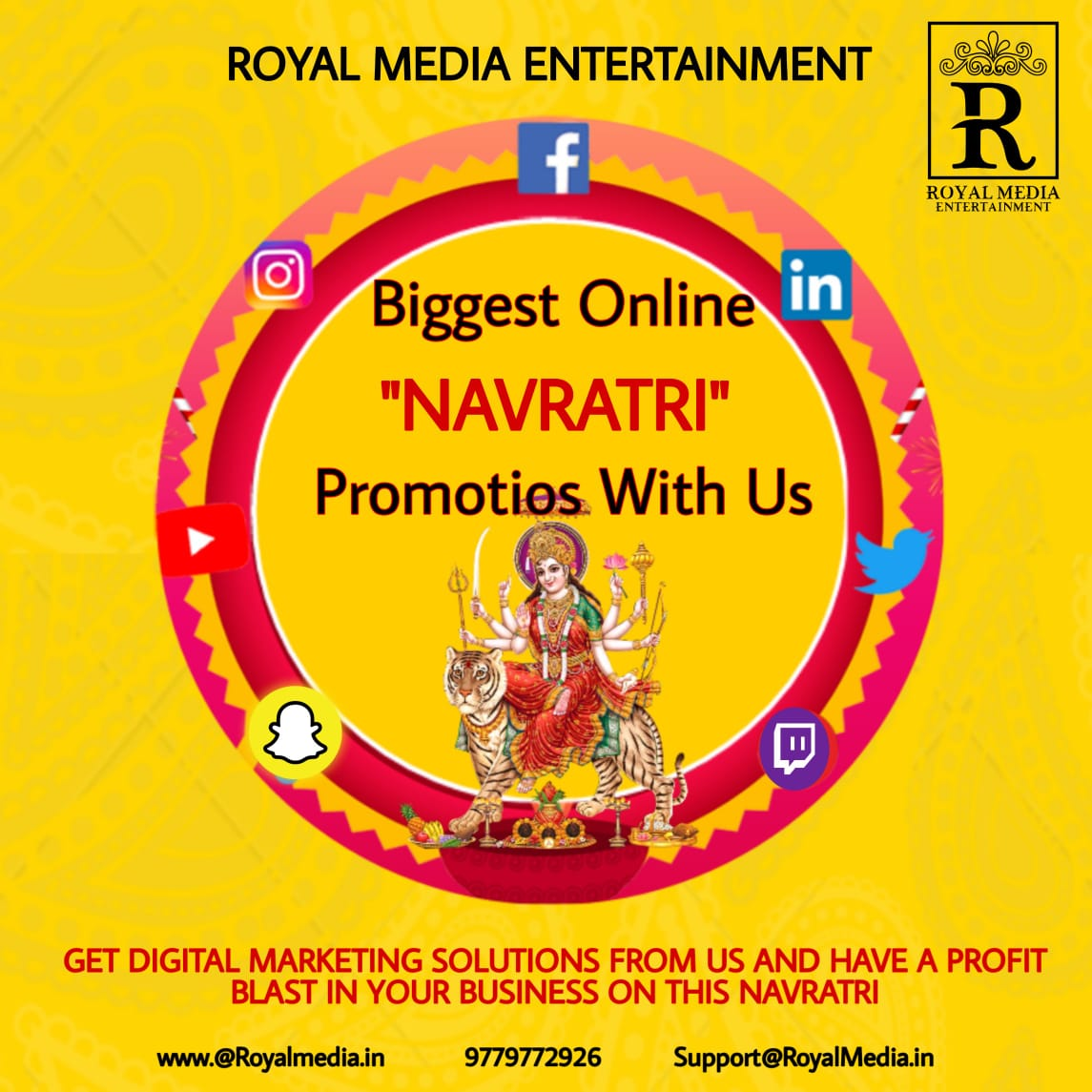 "Biggest ""NAVRATRI"" Promotions With Us"