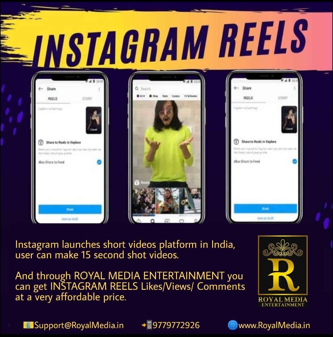 Contact us to be famous on Instagram reels