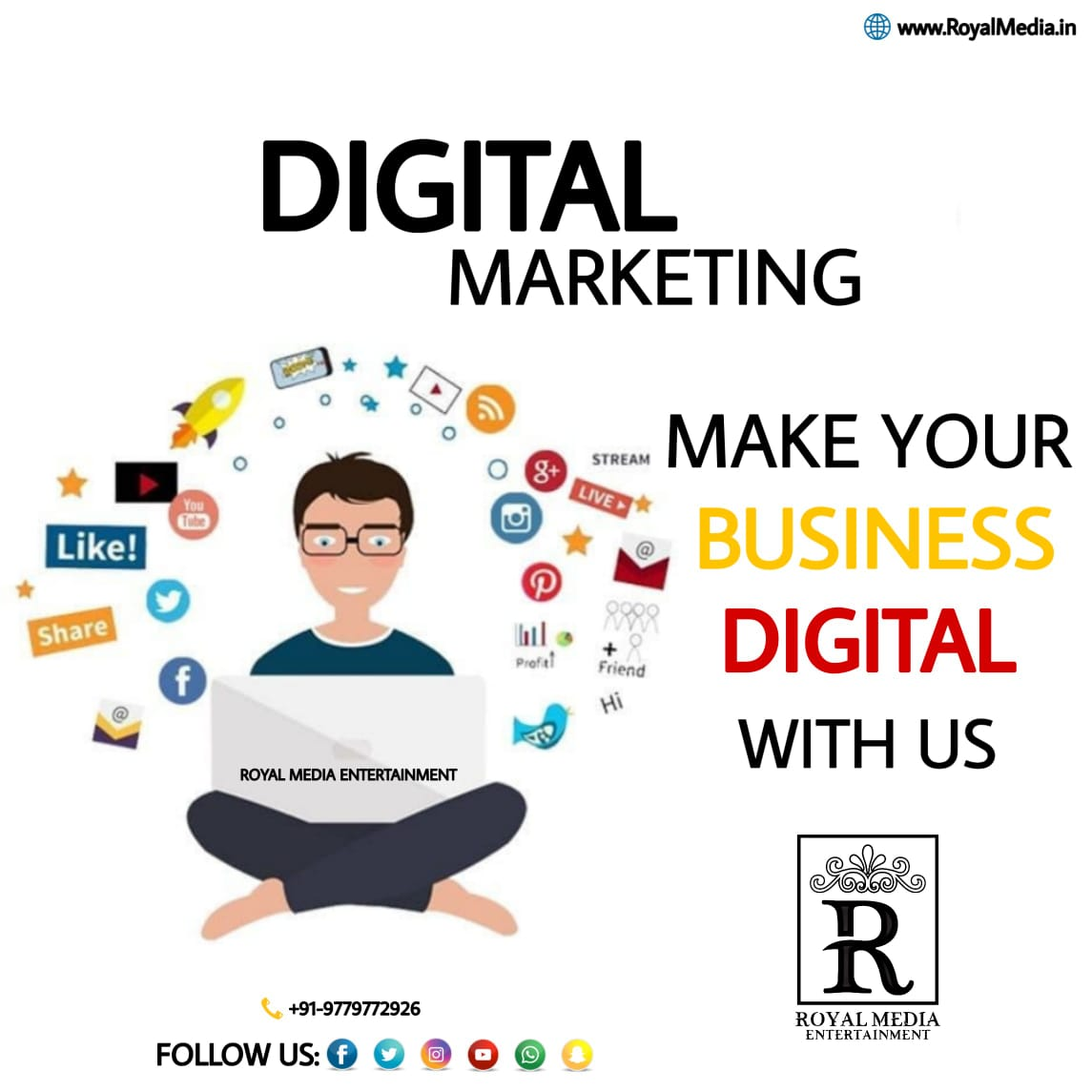 Contact Royal Media Entertainment For any DIGITAL MARKETING related queries..