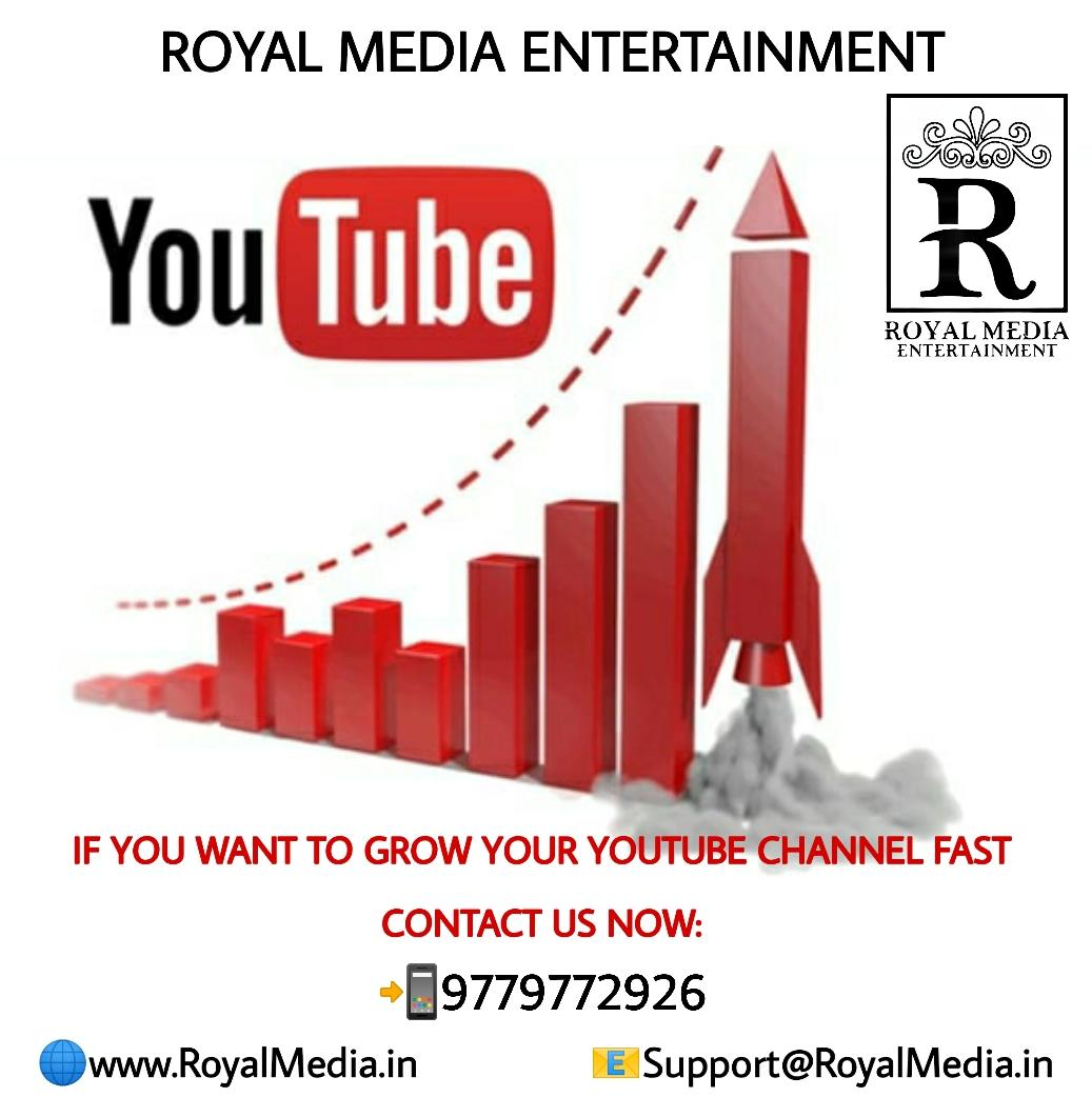 Through ROYAL MEDIA ENTERTAINMENT you can easily grow your YouTube channel fast.