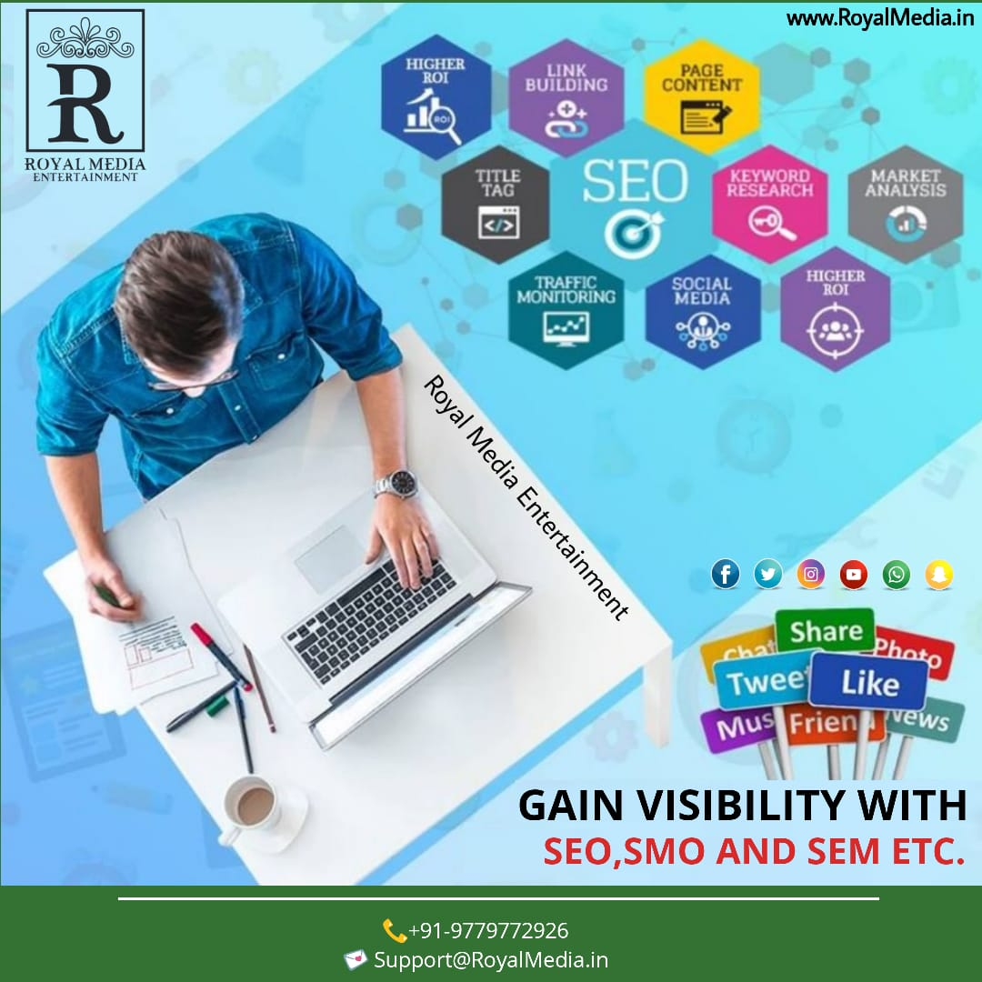 Gain Visibility With SEO, SMO AND SEM ETC.