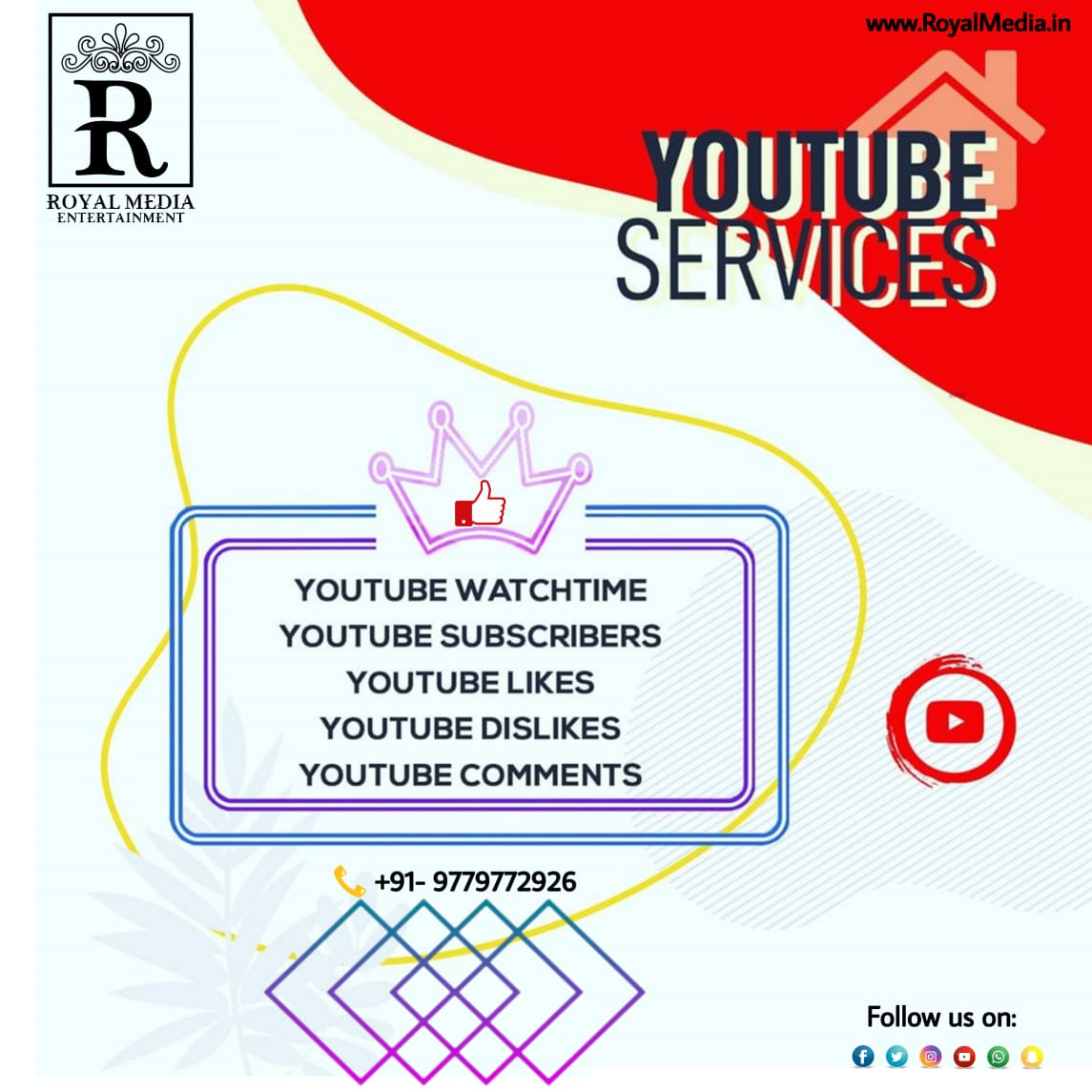 Youtube Services Cheapest in The Market!