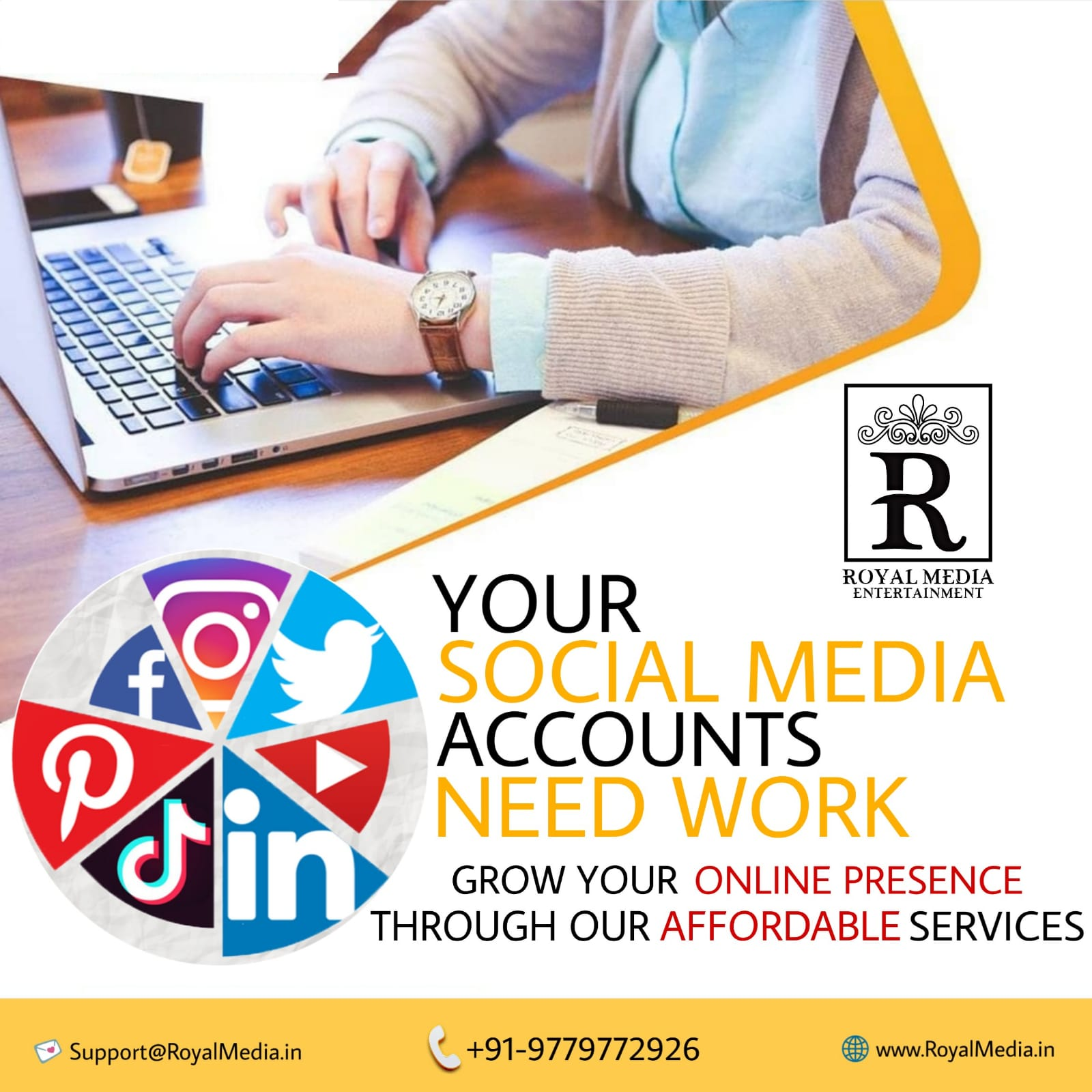 We provide the best Services to grow your SOCIAL MEDIA ACCOUNTS