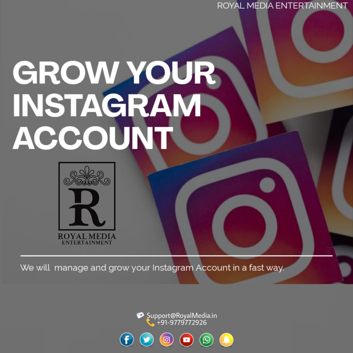 Grow Your Social Media Accounts In a Fast Way.