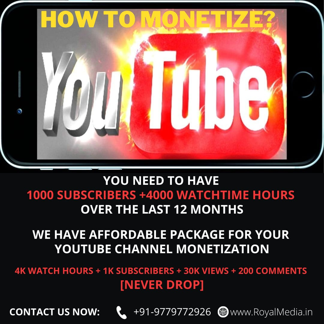 MONETIZE YOUR YOUTUBE CHANNEL