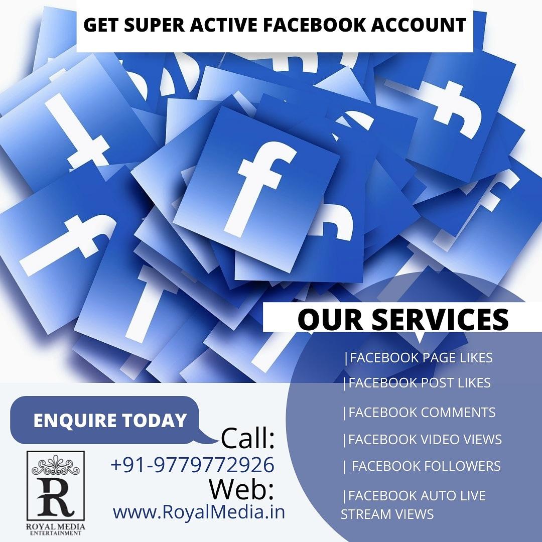 Get Super active Facebook Account