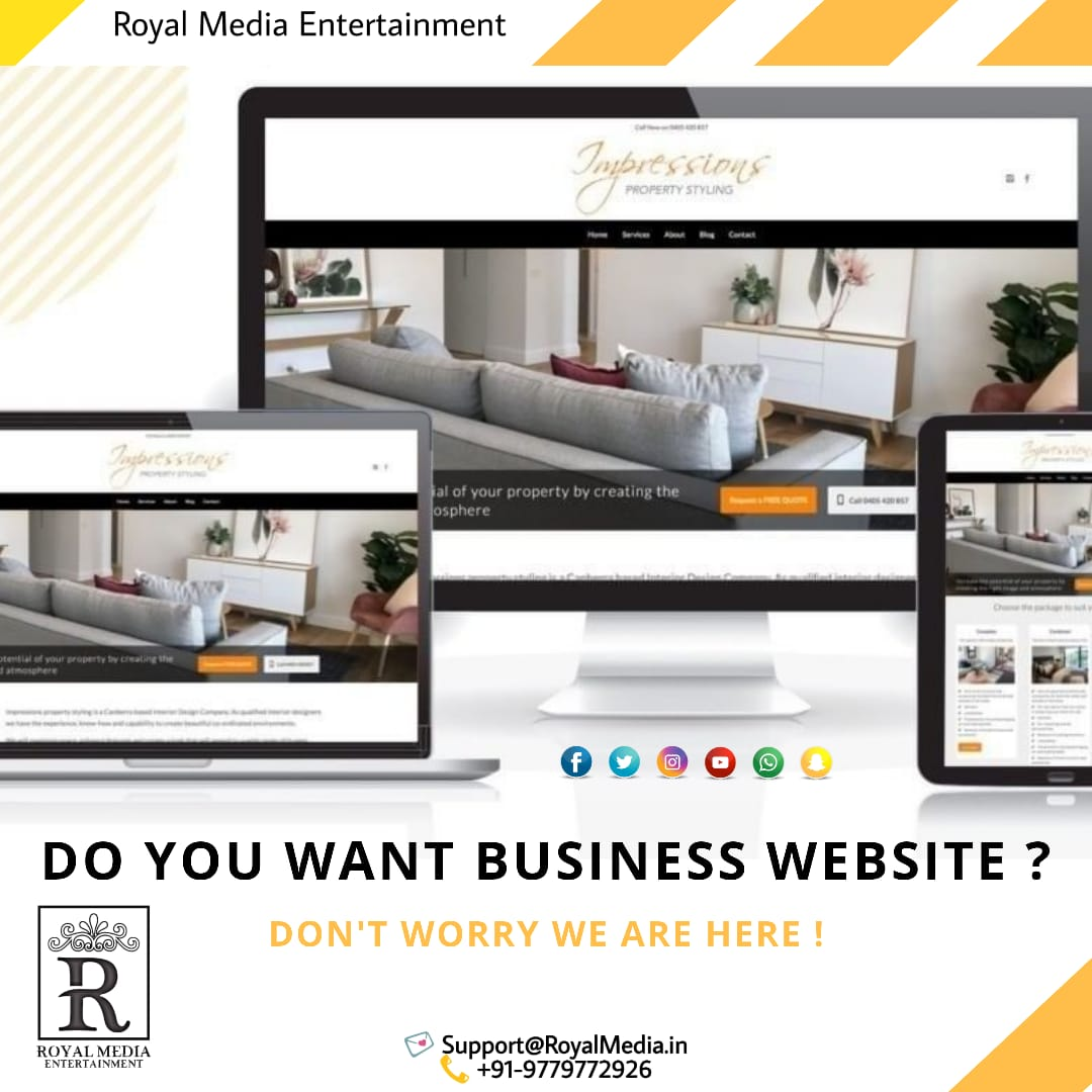 Update Your Website With Royal Media Entertainment