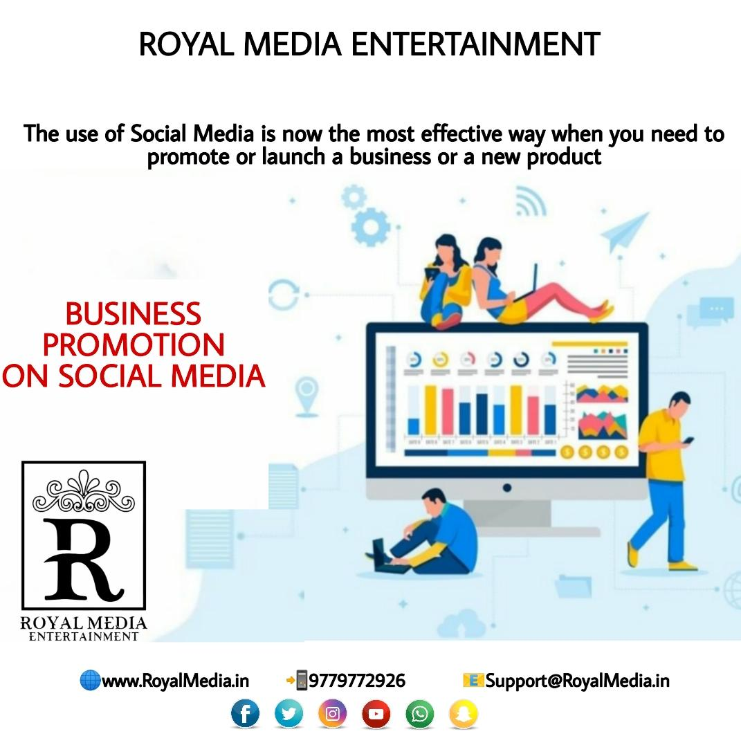 The use of social media is the most effective way when you need to promote business or new product.