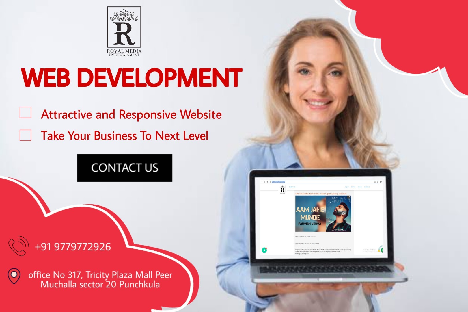 Create your Attractive & Responsive Website NOW