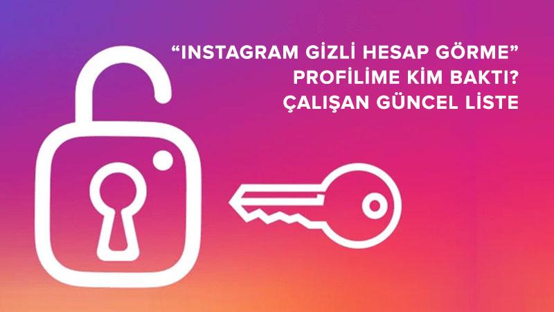 Instagram Gizli Hesap ve Profil Görme Uygulamaları