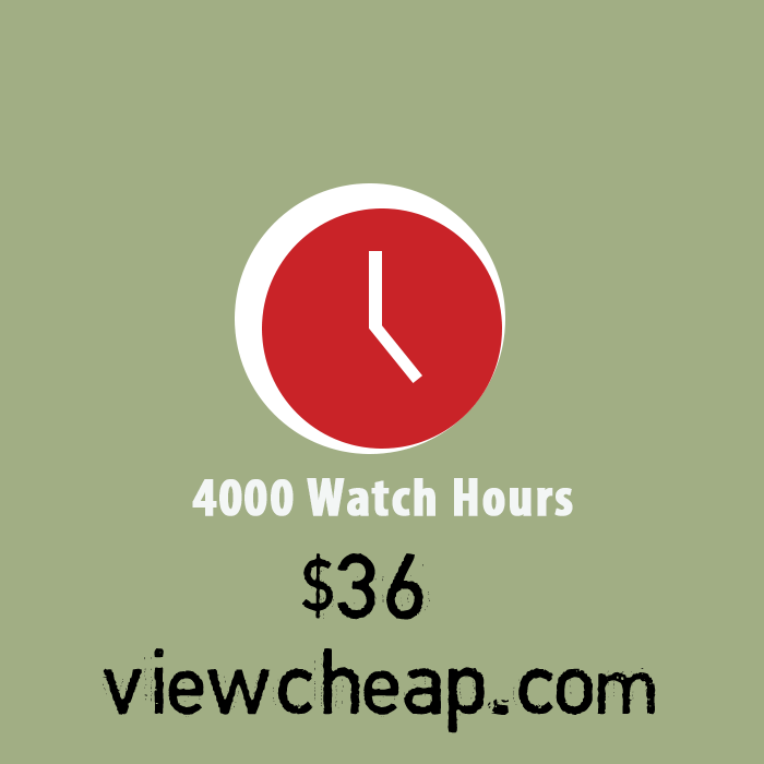 Buy 4000 watch hours on youtube 2019 - 2020