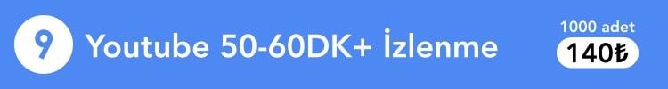 YouTube 50-60dk+ izlenme