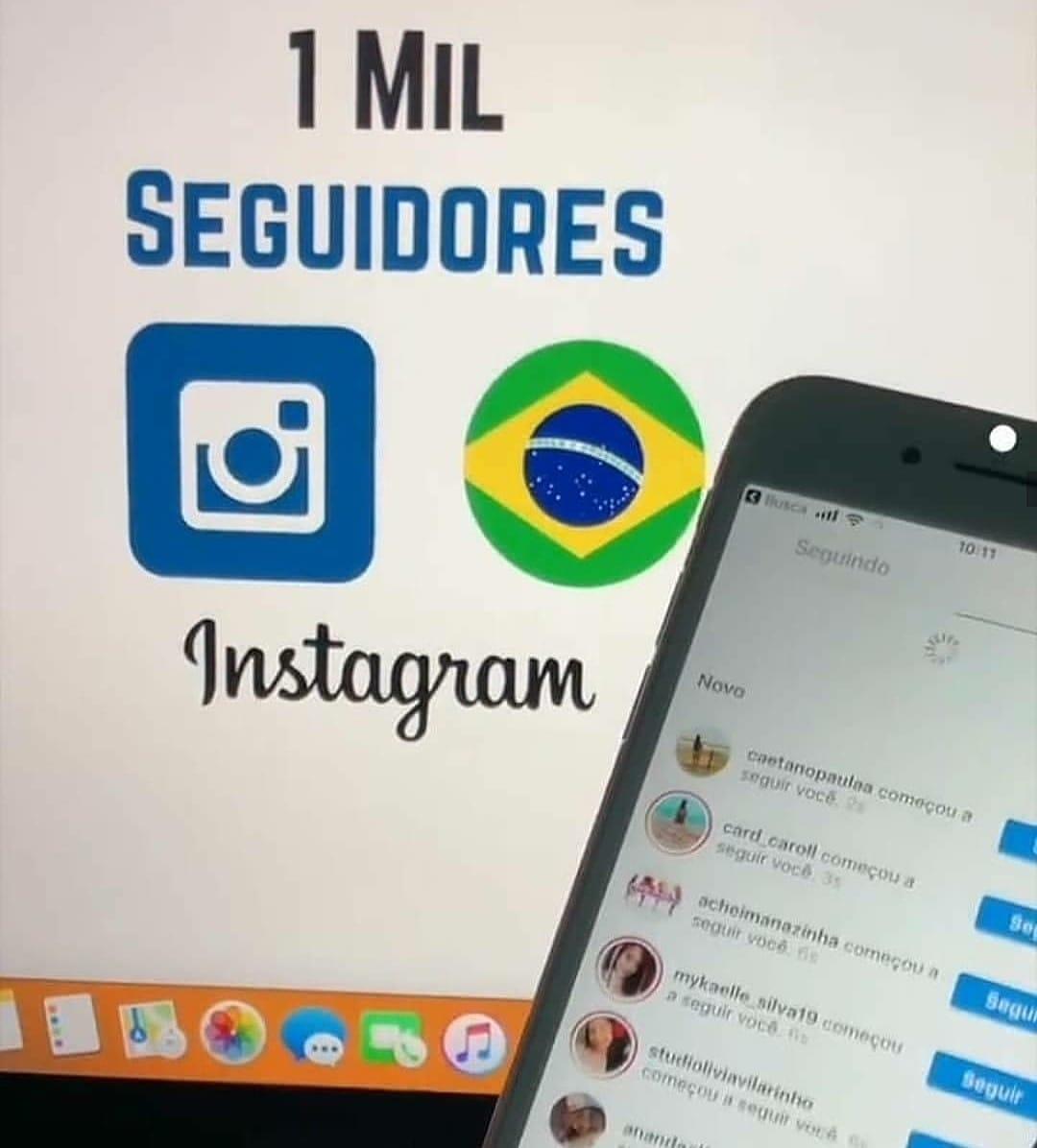 1000 Seguidores no Instagram