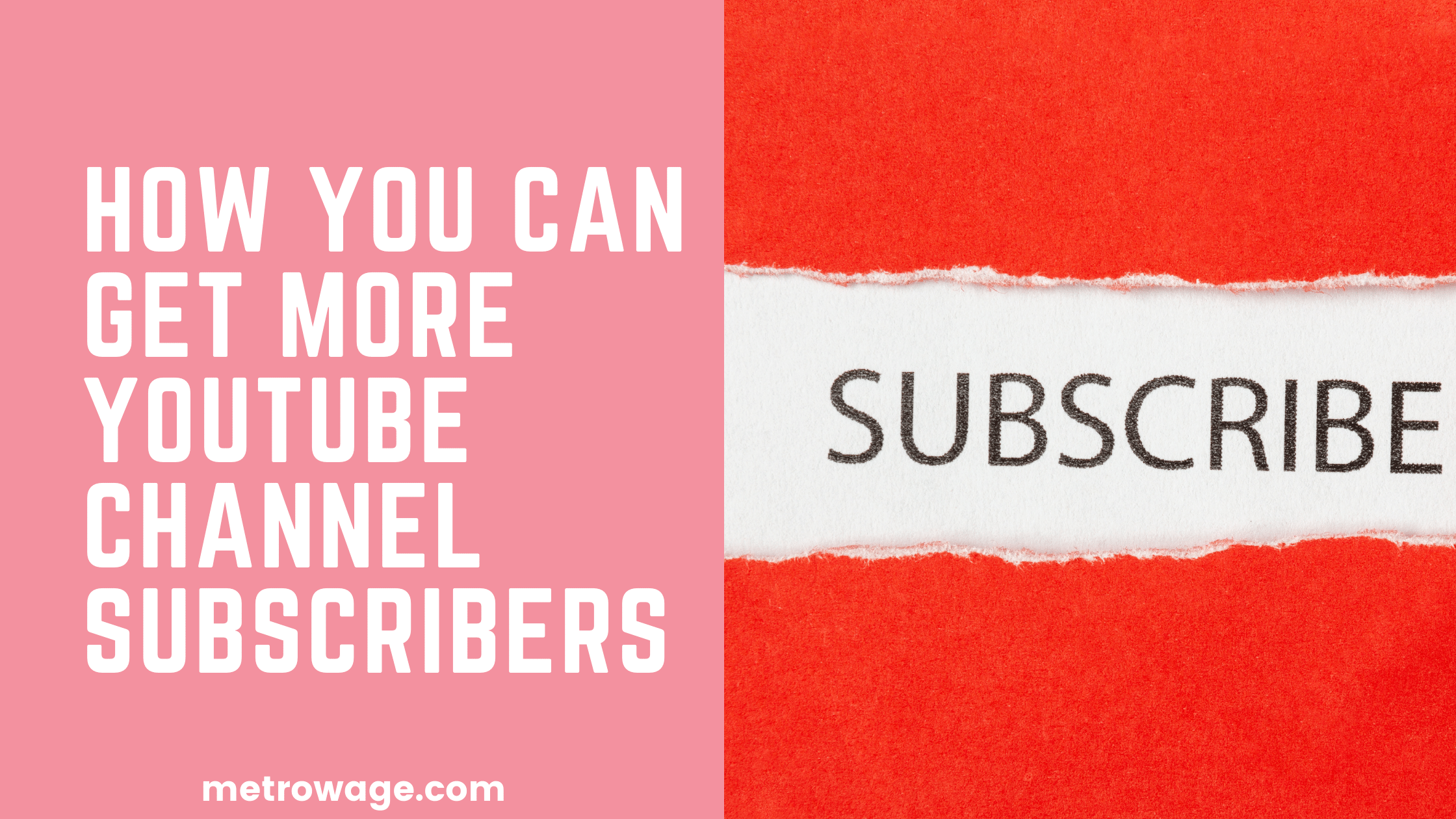 How You Can Get More YouTube Channel Subscribers