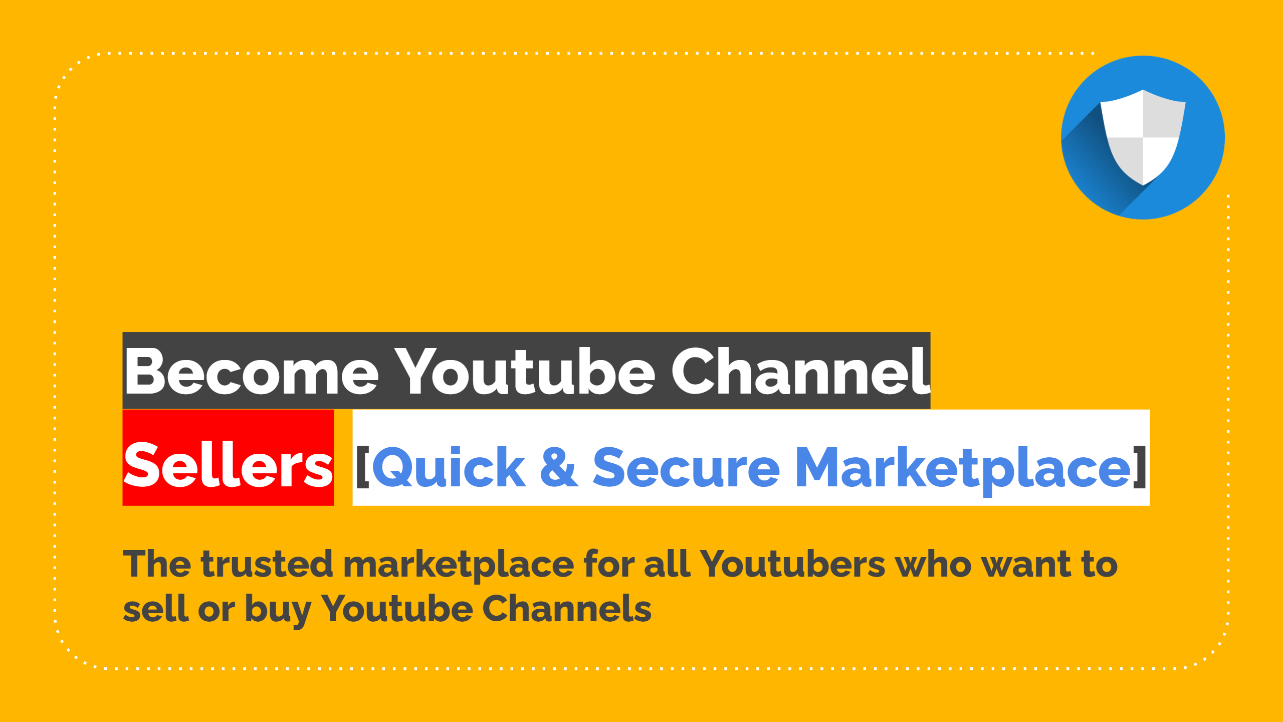 Become Youtube Channel Seller
