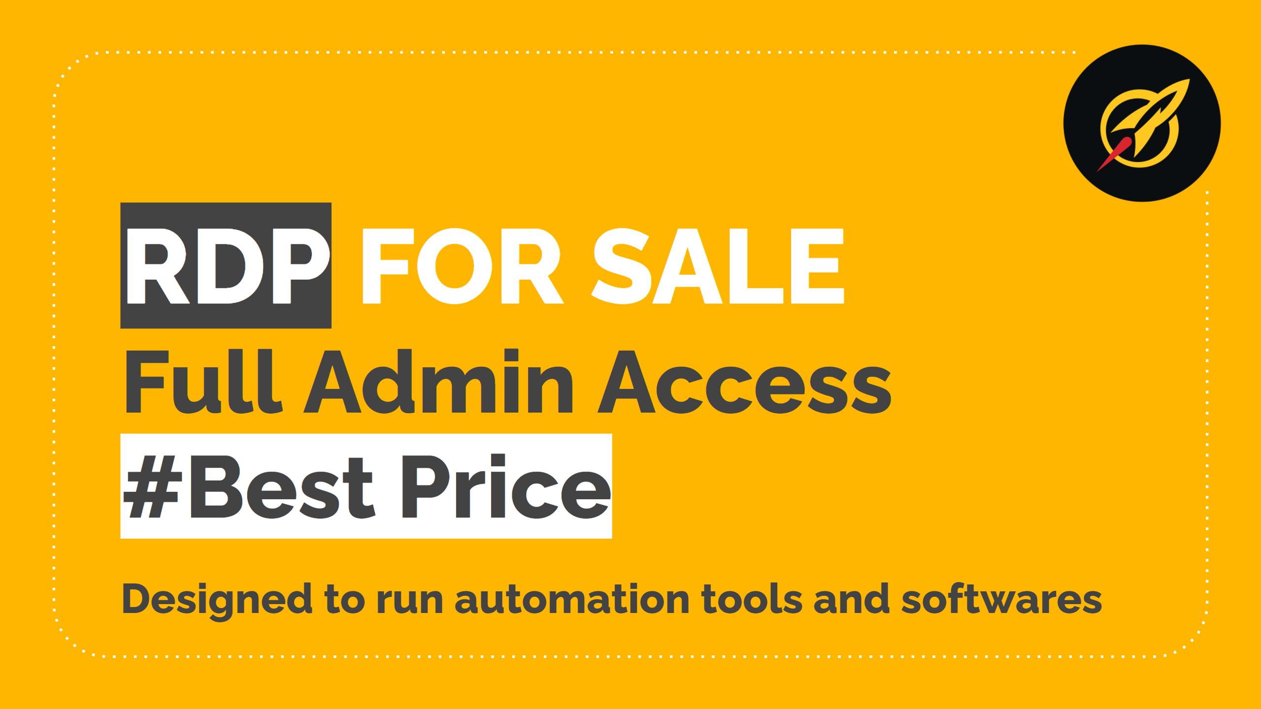 RDP (Remote Desktop Protocol) For Sale